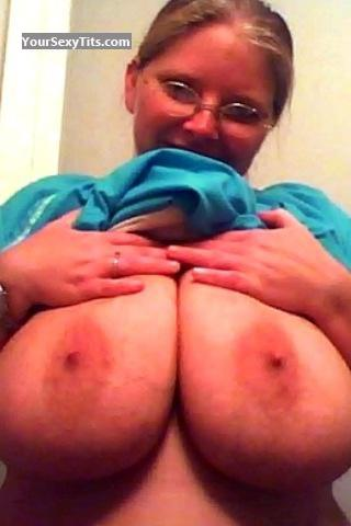 Tit Flash: My Extremely Big Tits By IPhone (Selfie) - Topless Monkey08 from United States
