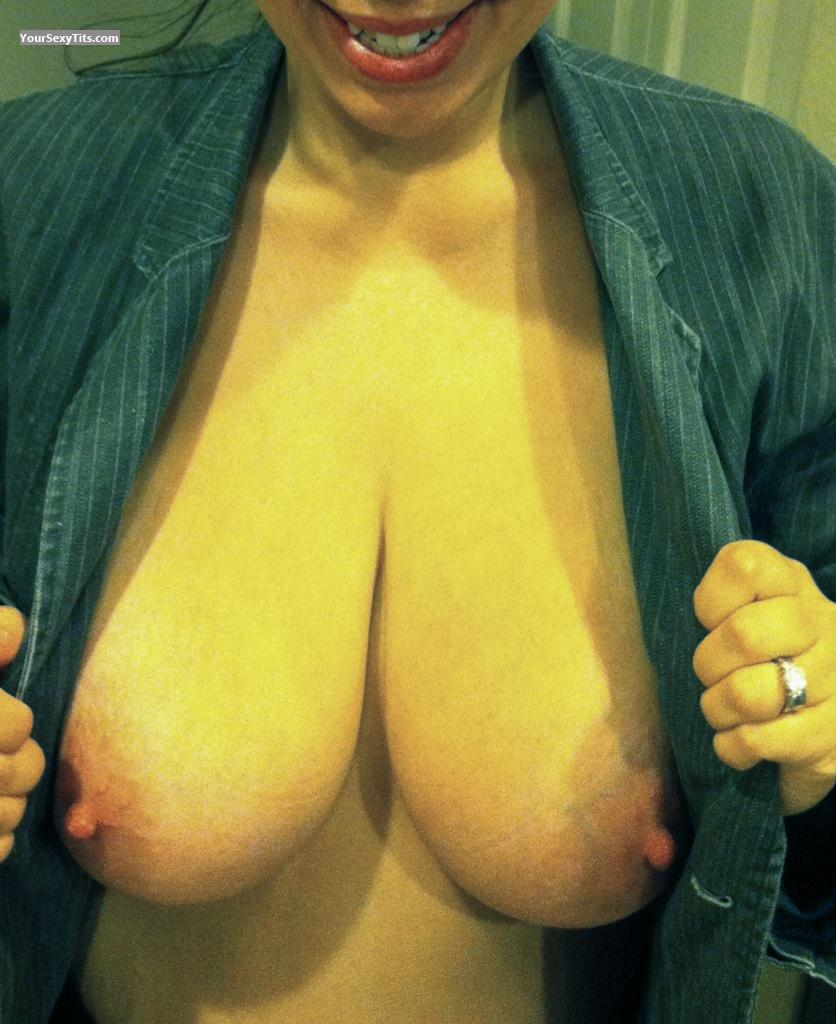 Tit Flash: Extremely Big Tits By IPhone - Happyhubby101 from United States