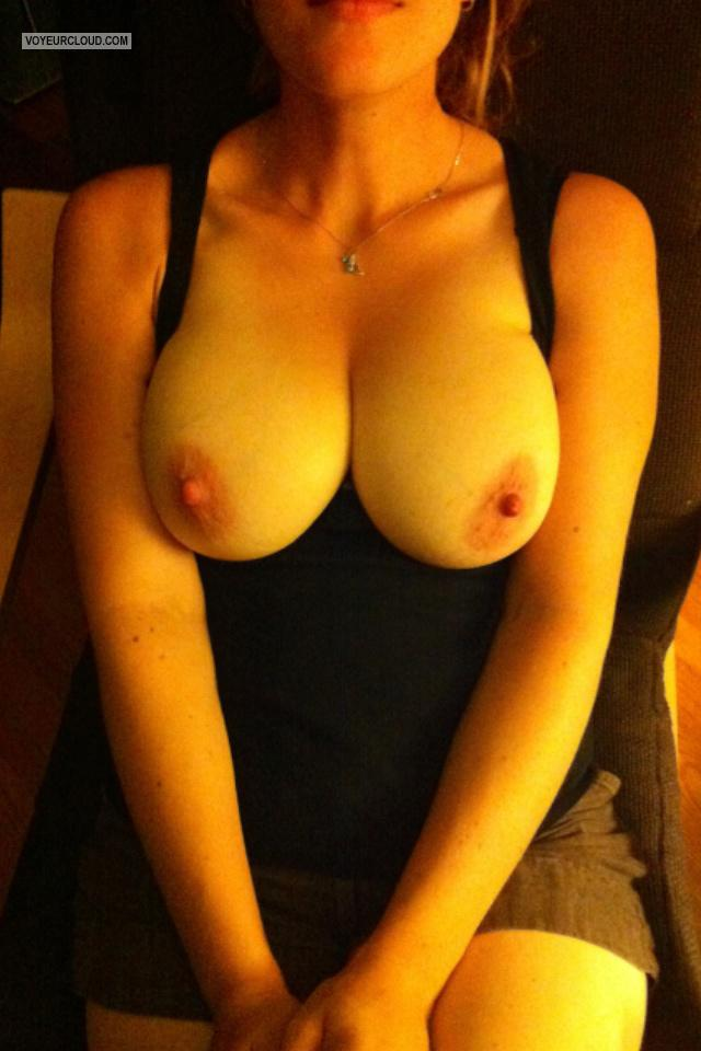 Tit Flash: Big Tits By IPhone - R from Canada