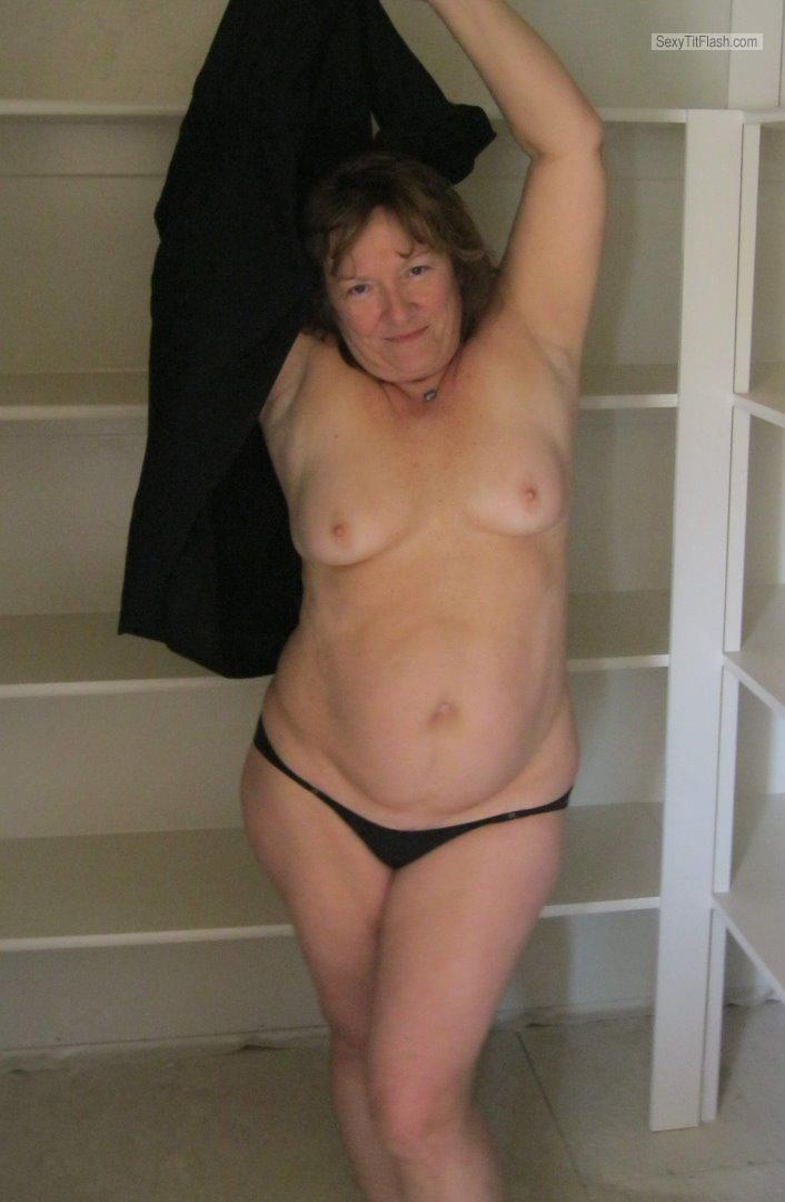 Tit Flash: My Extremely Big Tits - Topless Karenkri from United States