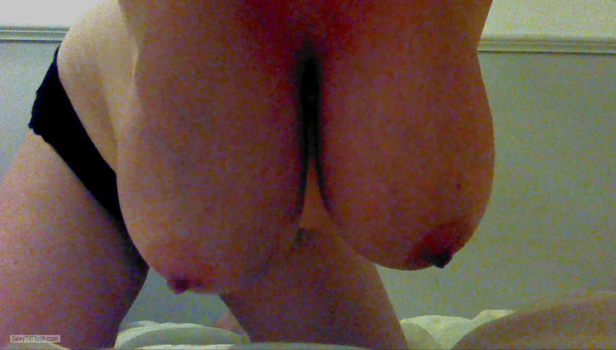 Tit Flash: My Extremely Big Tits (Selfie) - Natural J from United Kingdom
