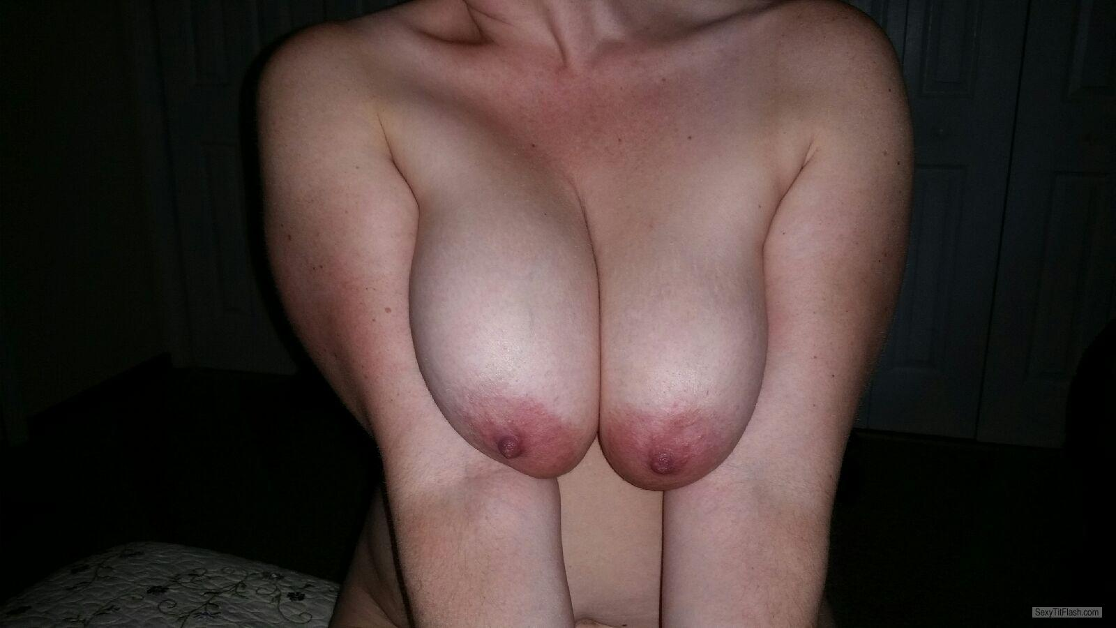 Tit Flash: Wife's Extremely Big Tits - Nh_shared from United States