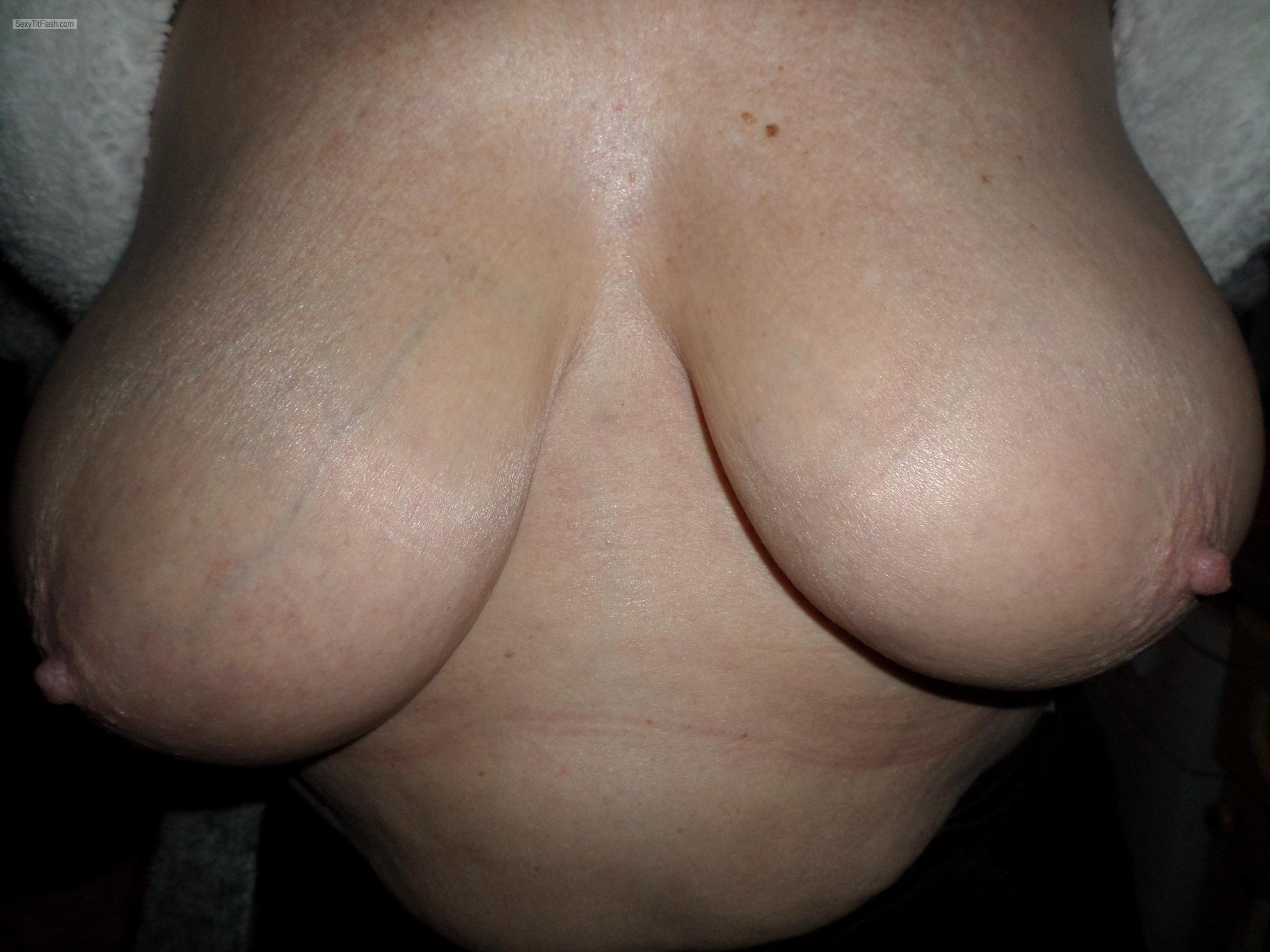 Tit Flash: My Very Big Tits - Horny 1 from United Kingdom