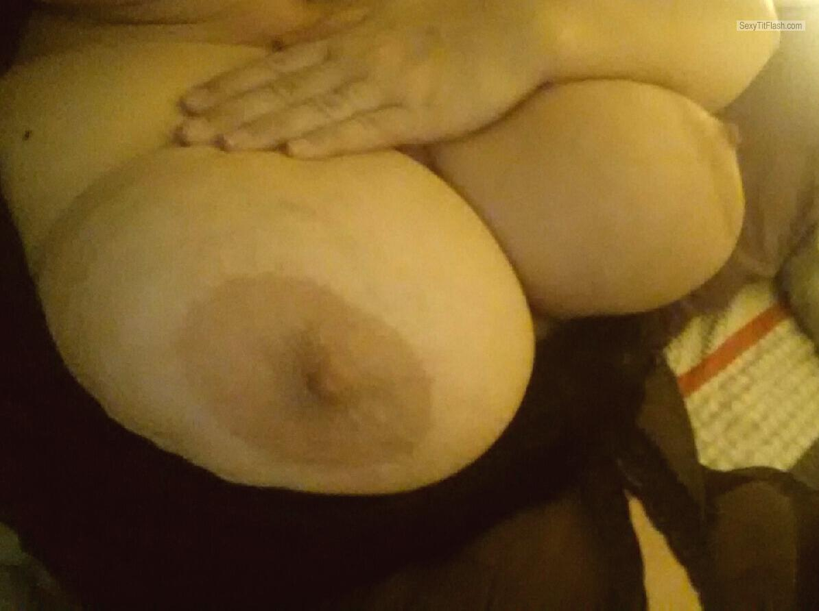 Extremely big Tits Of My Wife Selfie by WorshipmyTITS