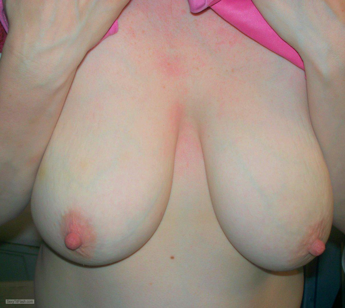 Tit Flash: My Extremely Big Tits - Hot Wife from United States