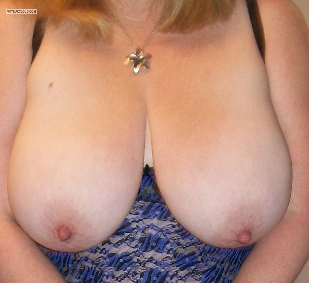 Tit Flash: My Extremely Big Tits - K from United States