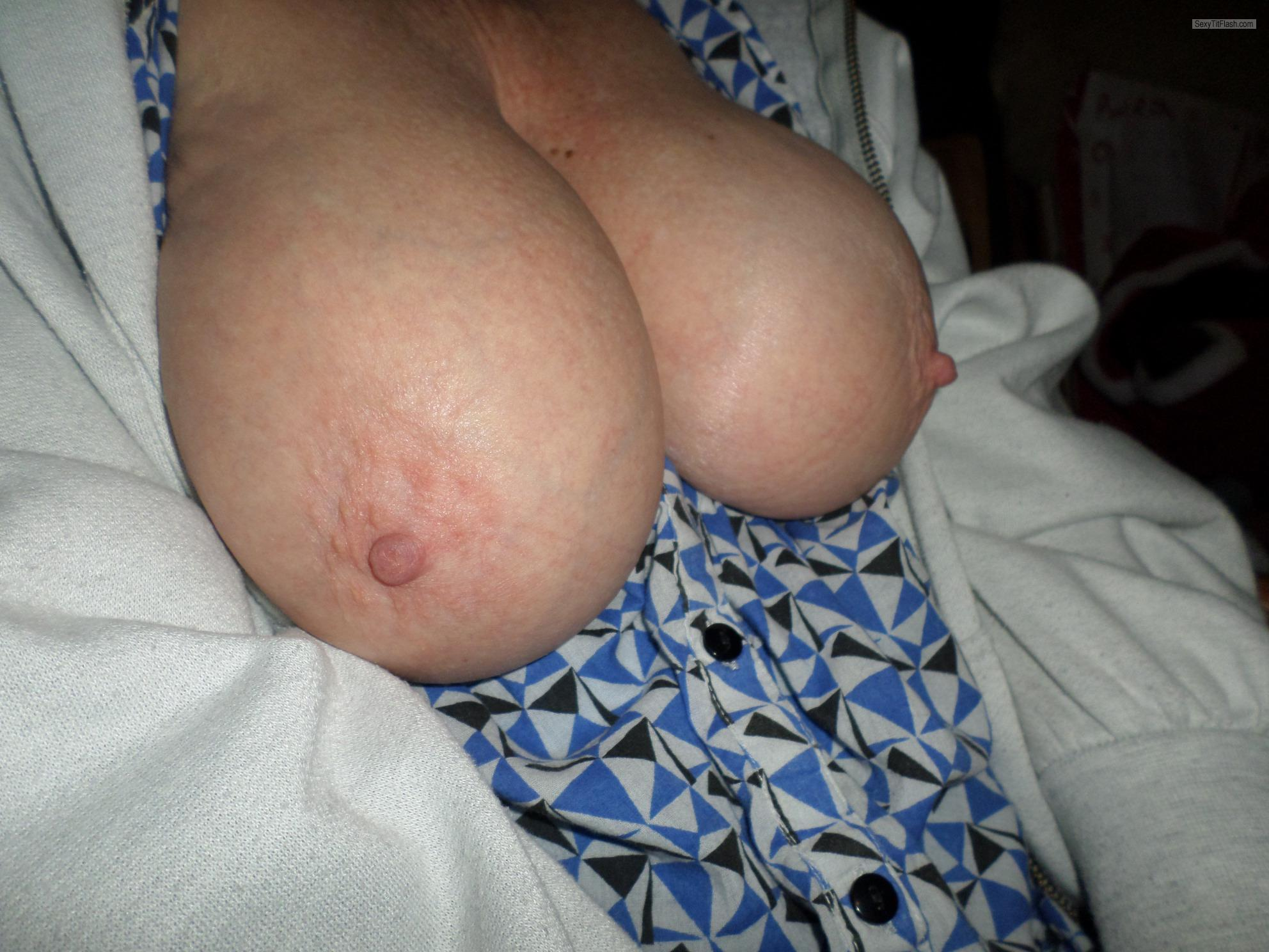 Tit Flash: My Big Tits - Horny 1 from United Kingdom