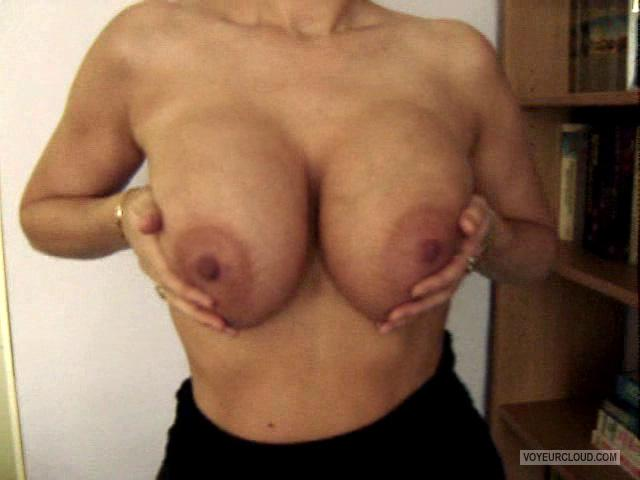 Tit Flash: Wife's Extremely Big Tits - Meg 75I from Netherlands