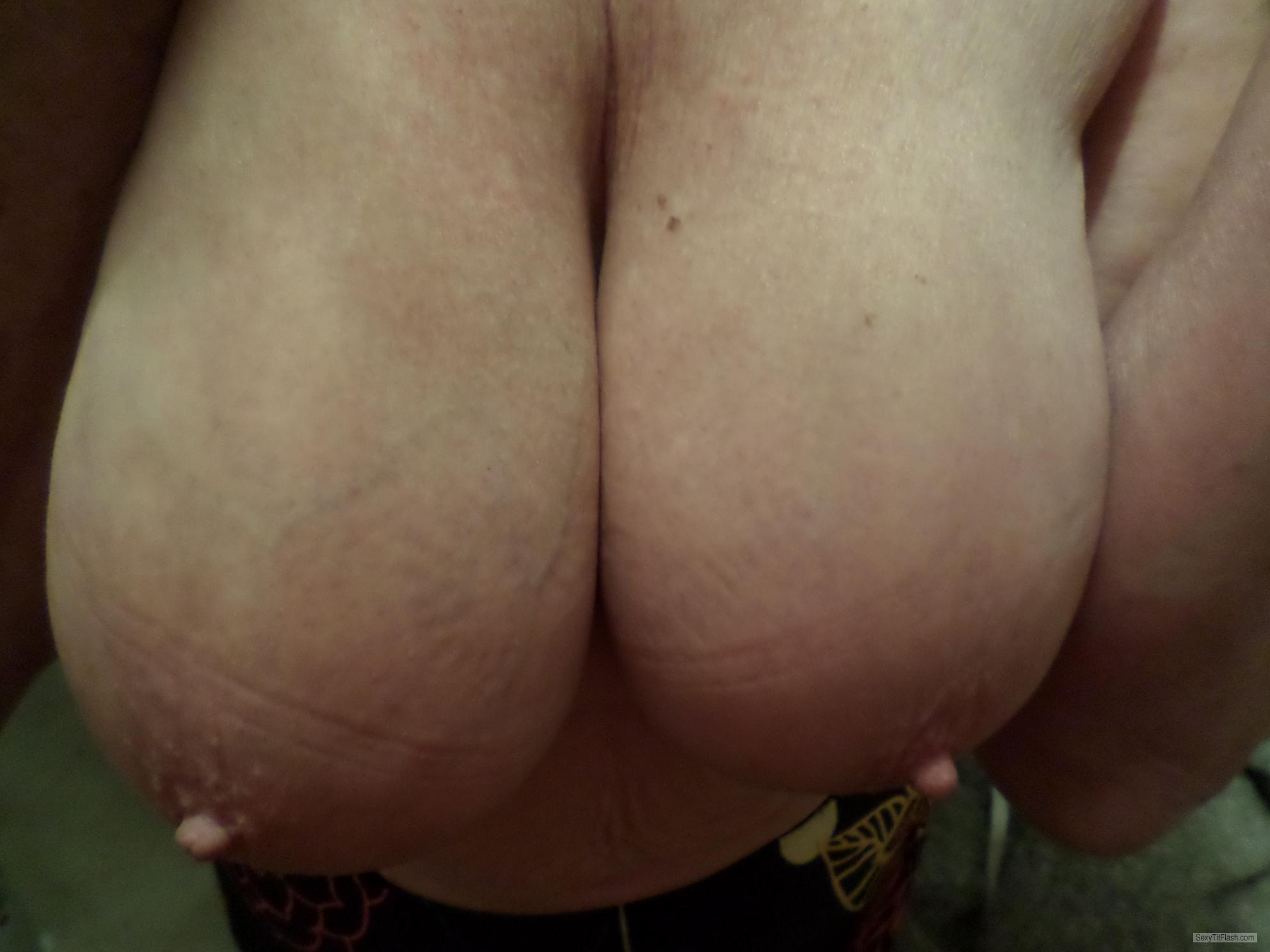 Tit Flash: My Extremely Big Tits - Horny 1 from United Kingdom