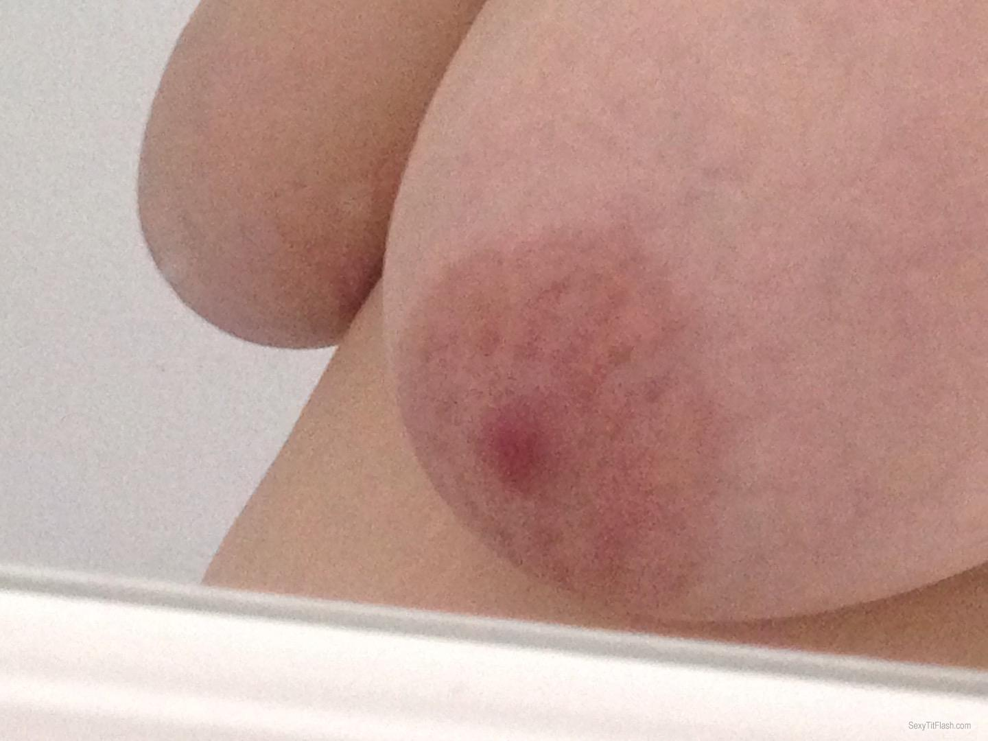 Tit Flash: My Extremely Big Tits (Selfie) - Titty Titty Bang Bang from United Kingdom