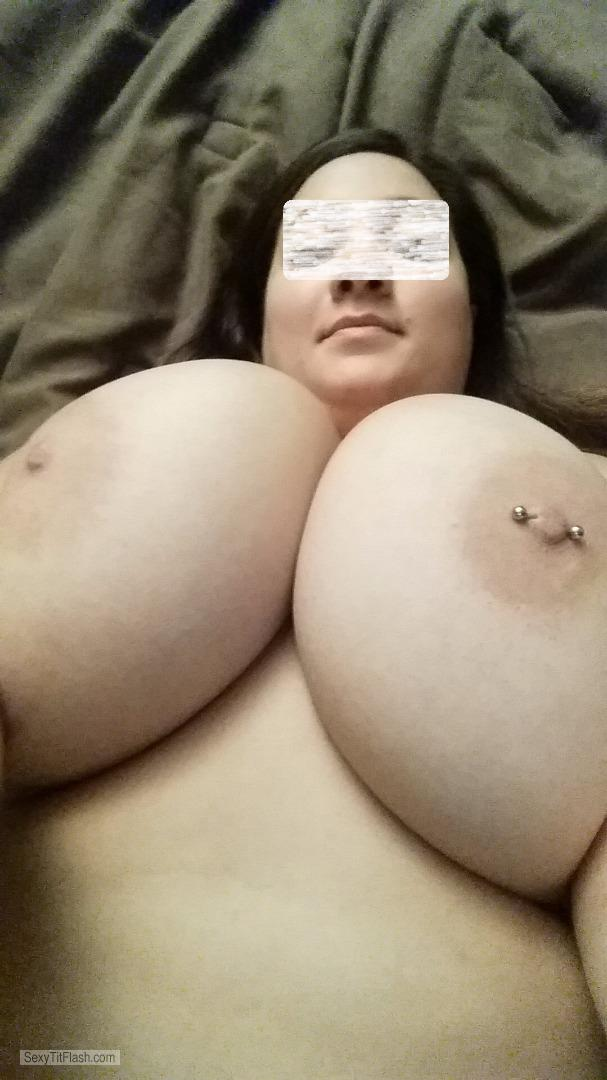 My Extremely big Tits Topless Wife