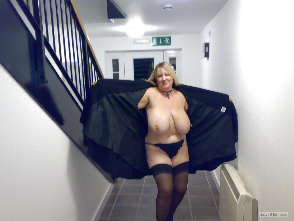 My Extremely big Tits Topless Tracey