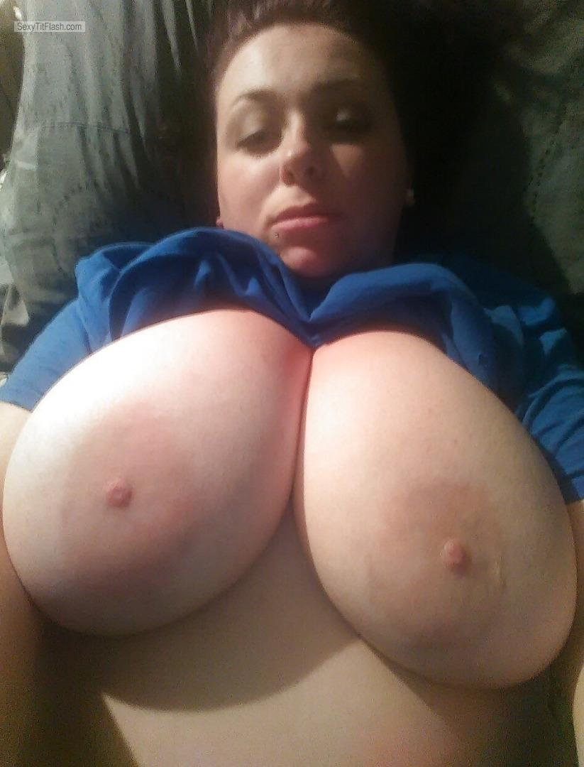 Tit Flash: My Extremely Big Tits (Selfie) - Topless Nix from United Kingdom