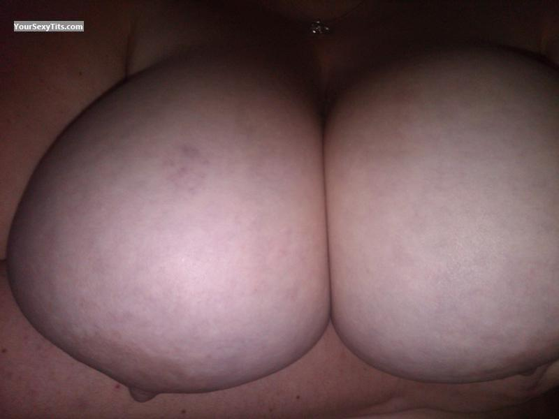 Tit Flash: My Extremely Big Tits (Selfie) - GreyBear'sSlave from United States