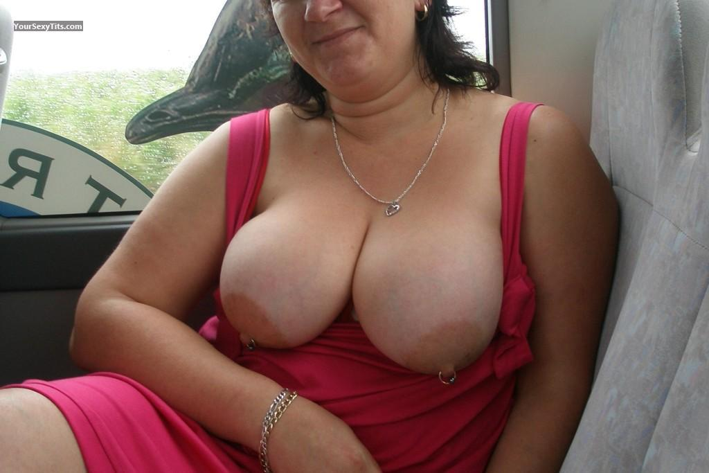 Tit Flash: Extremely Big Tits - Nystits from AustraliaPierced Nipples