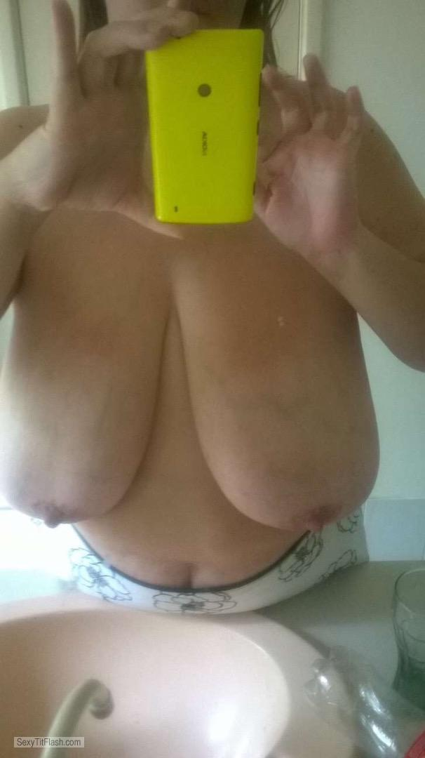 Extremely big Tits Of A Friend Selfie by Jo