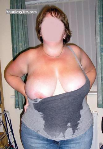 Tit Flash: Wife's Extremely Big Tits - Deb from United Kingdom