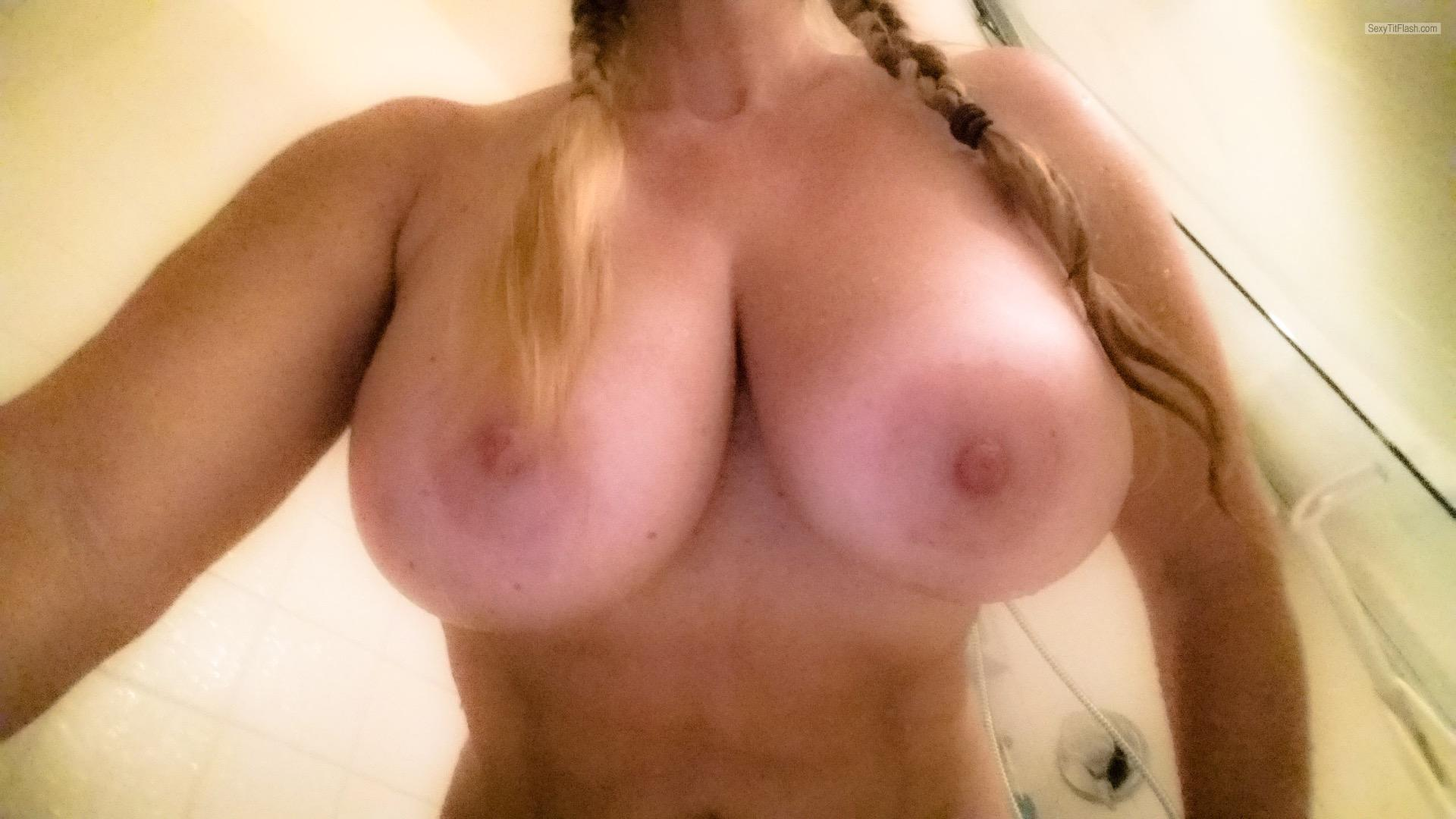 Extremely big Tits Of My Girlfriend Selfie by Gf 38ffs