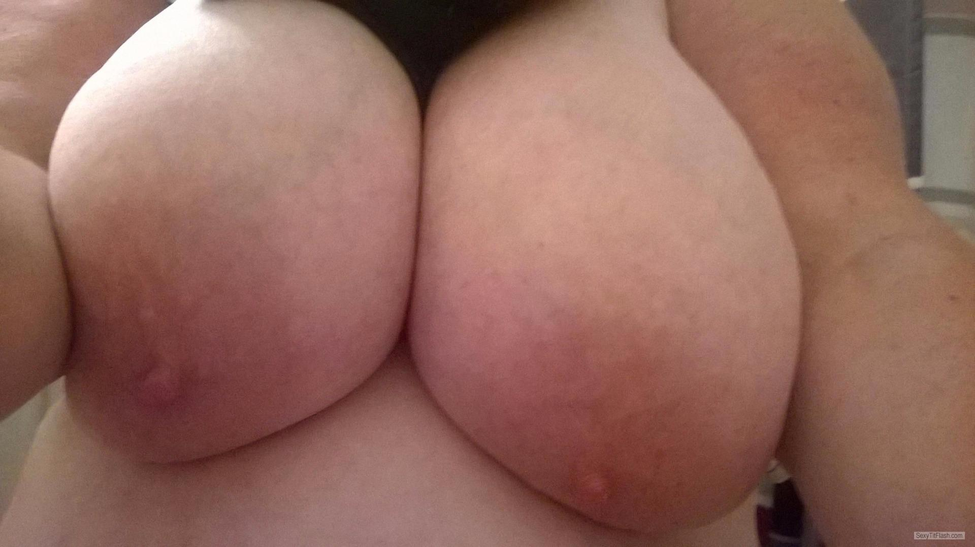 Tit Flash: Girlfriend's Extremely Big Tits - My Gfs Big 46 Ddd from United States