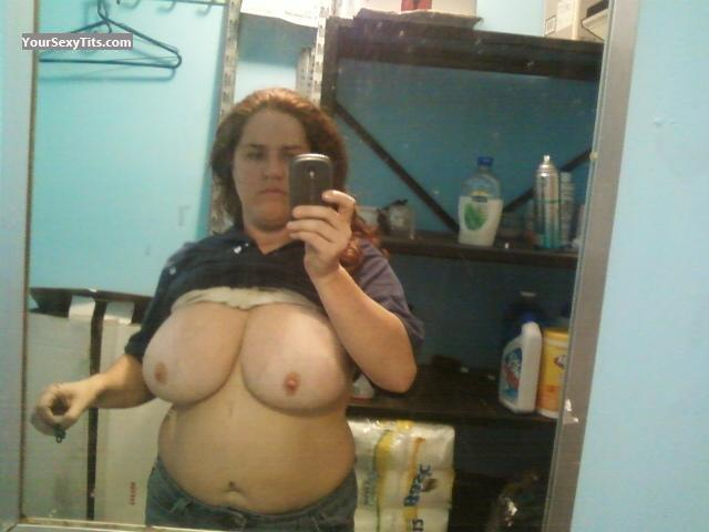 My Extremely big Tits Topless Selfie by Heather W