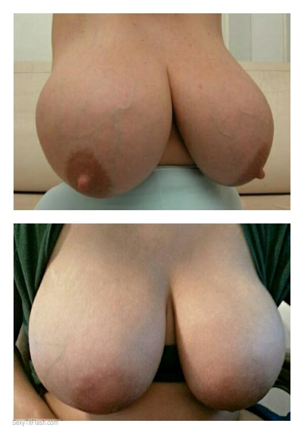 Tit Flash: My Extremely Big Tits - Tit Comparison from United Kingdom