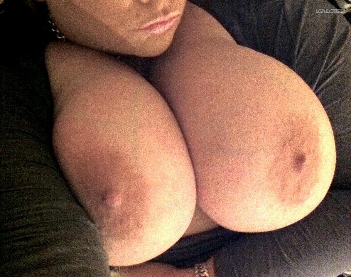 My Extremely big Tits Topless Selfie by Mz Jess