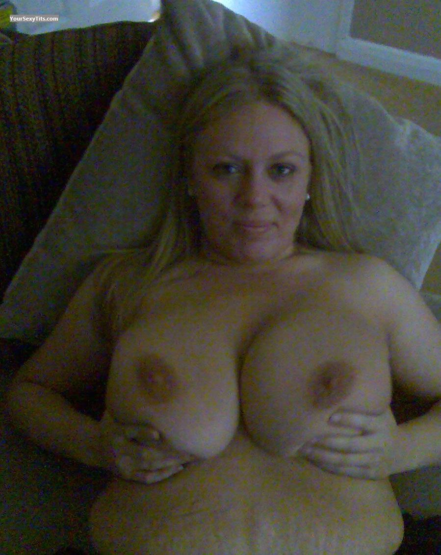 Tit Flash: Extremely Big Tits - Topless 34GG from United Kingdom