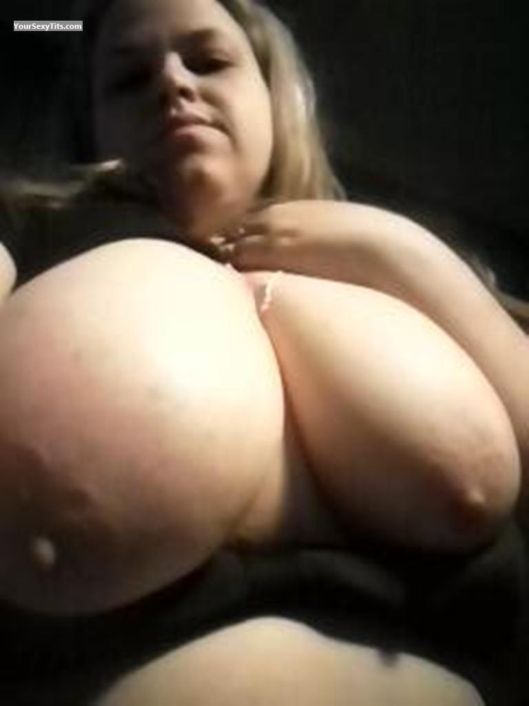 Tit Flash: My Extremely Big Tits (Selfie) - Topless Krystal from United States