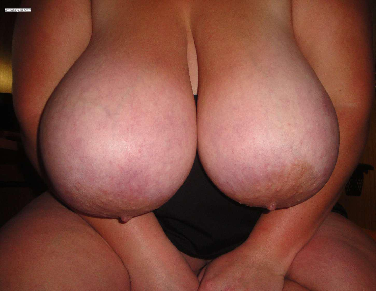 Tit Flash: Wife's Extremely Big Tits - Wifes Big Tits from United States