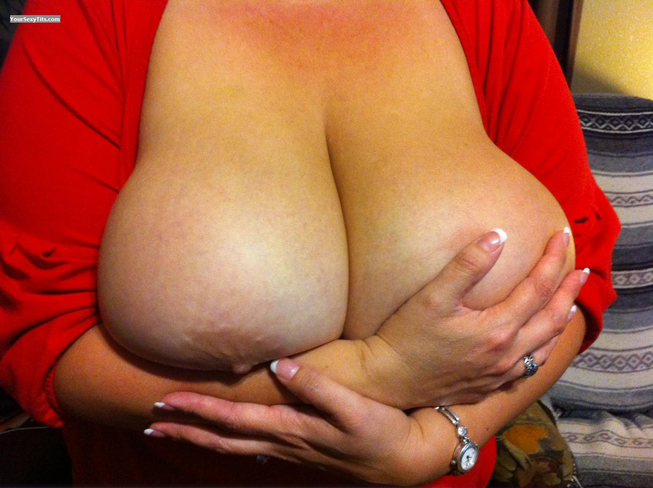 Tit Flash: Extremely Big Tits - Bountiful Bonnie from United States
