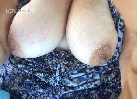 Tit Flash: My Extremely Big Tits (Selfie) - Sexy T from United States