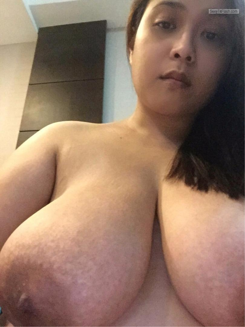 My Extremely big Tits Topless Leeann