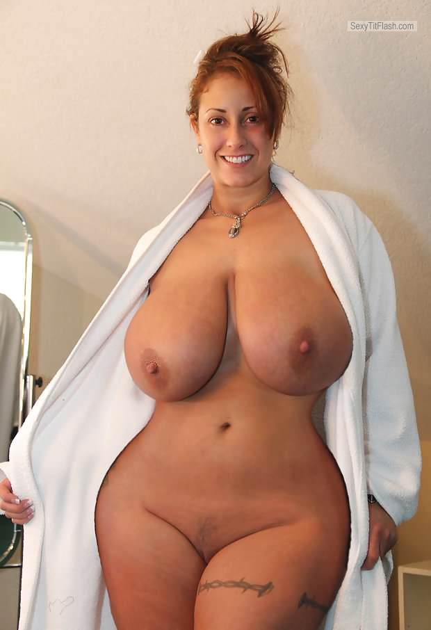 Extremely big Tits Of My Wife Topless Anni