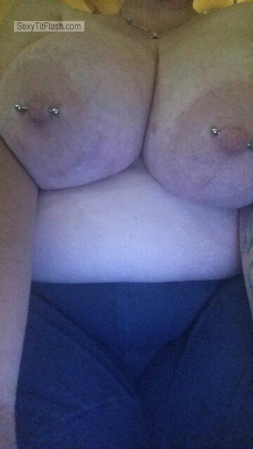 Extremely big Tits Of My Wife Selfie by My Wife's Big Tits