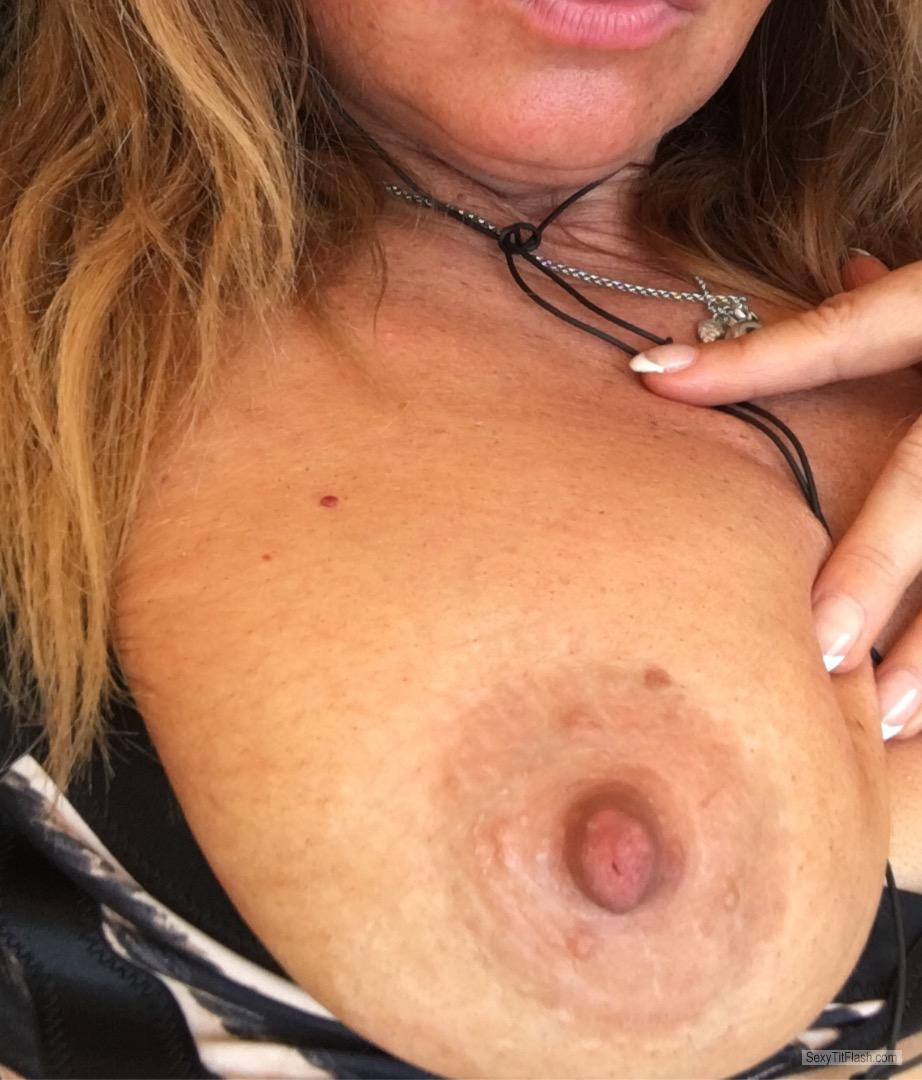 My Extremely big Tits Selfie by Always Errect And Horny As F