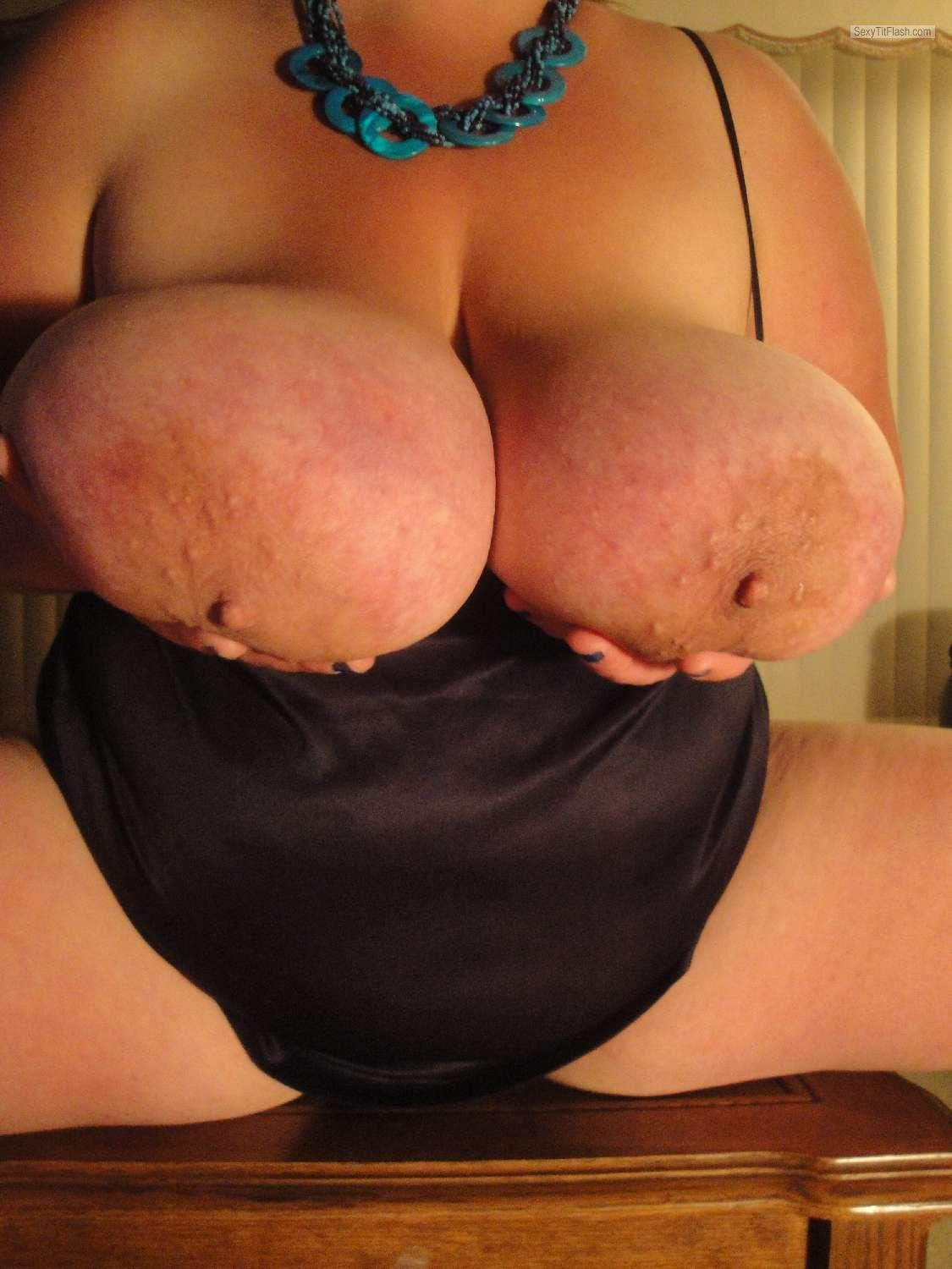 Tit Flash: My Extremely Big Tits - Mandy6980 from United States