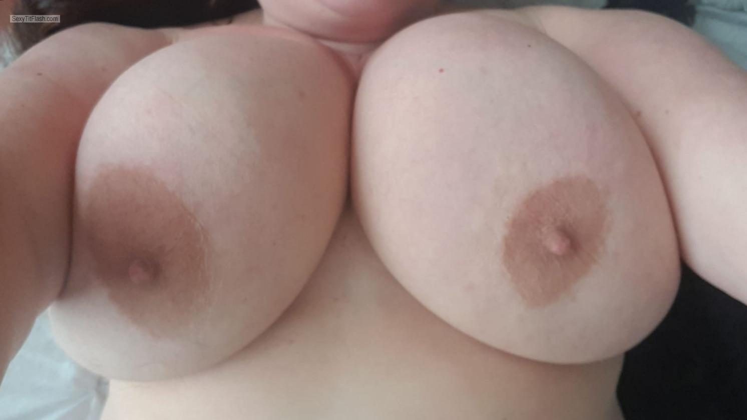 Tit Flash: My Extremely Big Tits (Selfie) - Hot Tits from United States