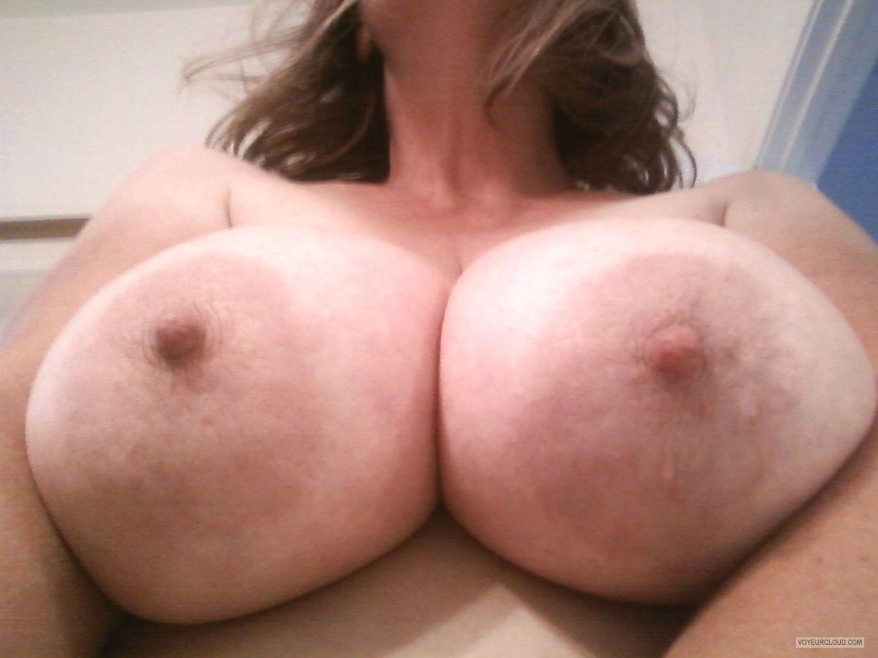 Tit Flash: My Extremely Big Tits (Selfie) - Bigboob_milf from United States