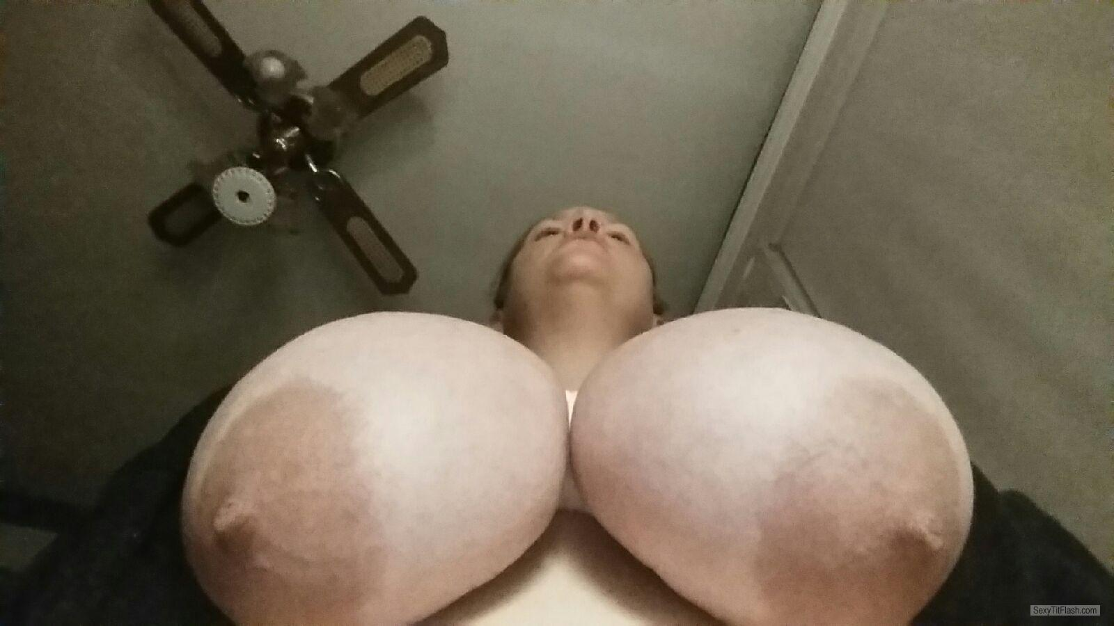 My Extremely big Tits Topless Selfie by Huge Tit Milf