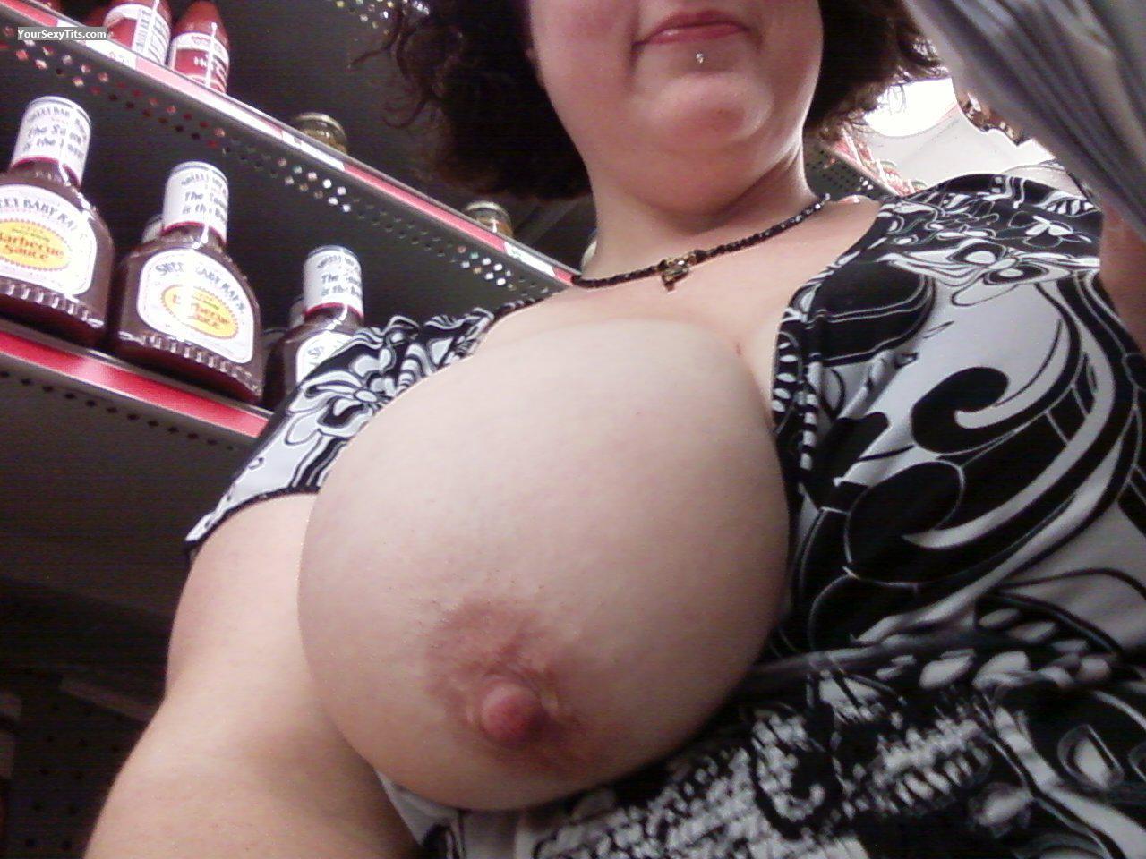 Curvy big tits panties
