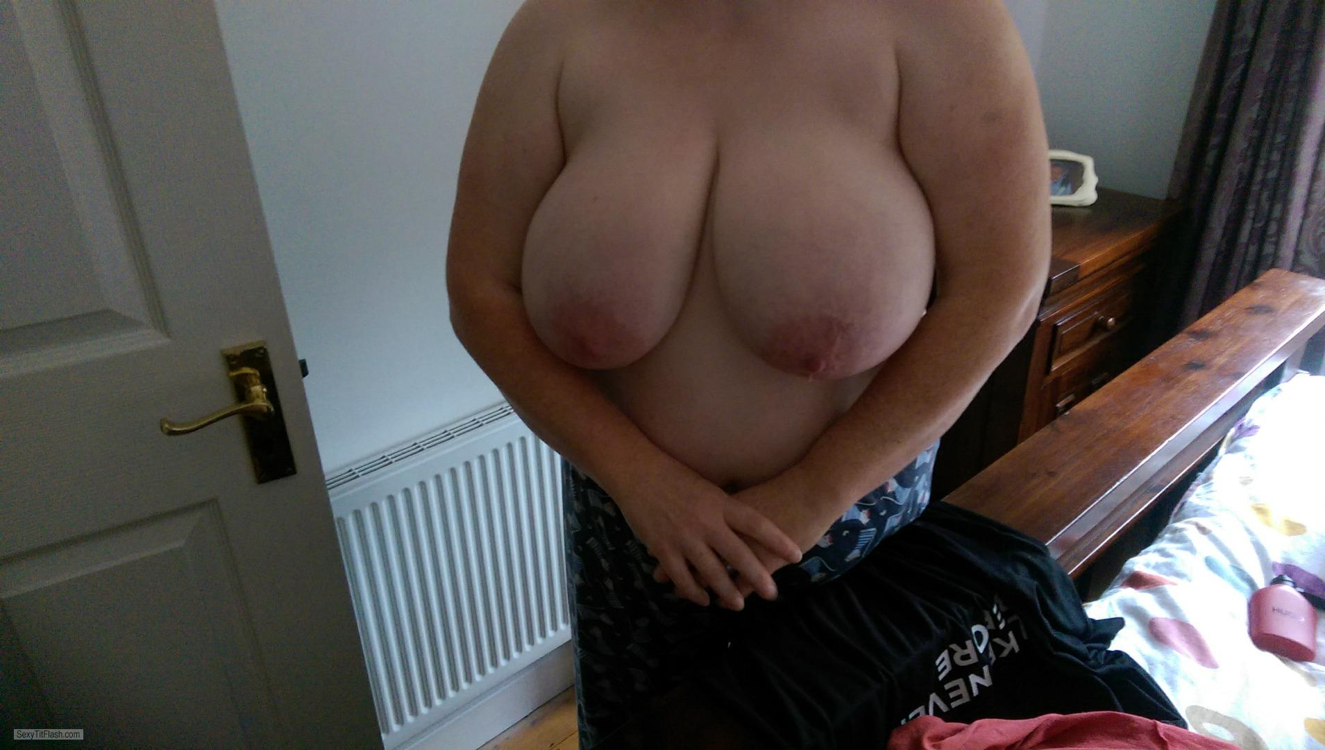 Tit Flash: Wife's Very Big Tits - Dubein from Ireland