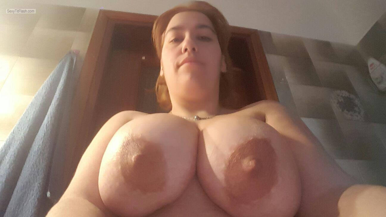 My Extremely big Tits Topless Selfie by Valentina