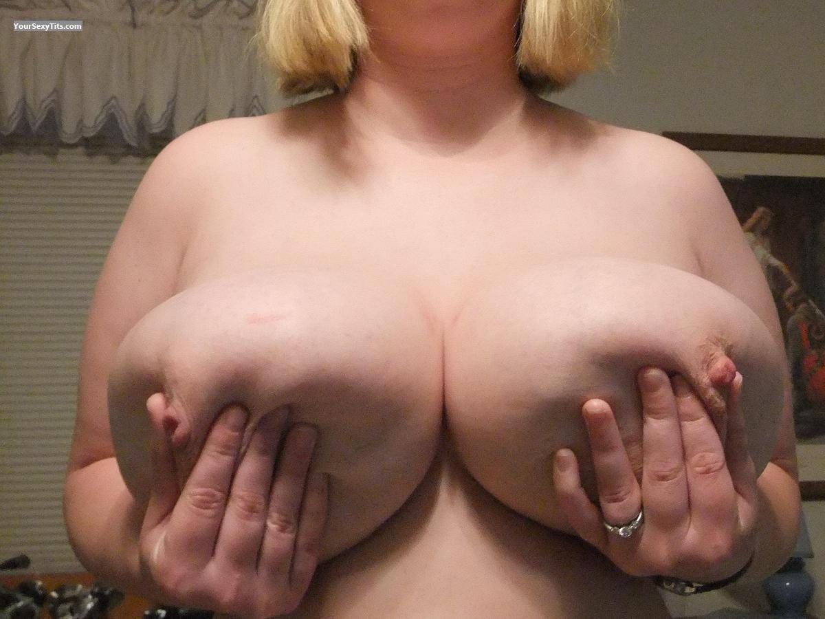 Tit Flash: Extremely Big Tits - Milker from United States