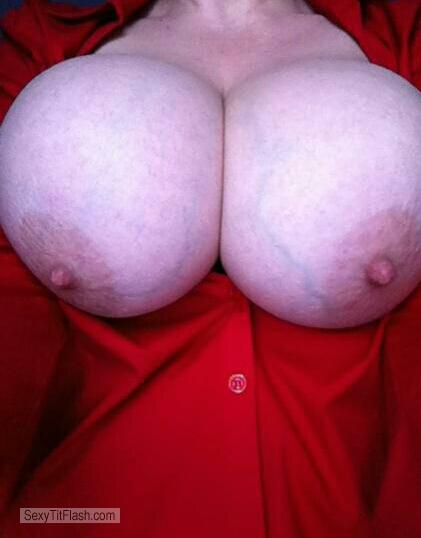 Tit Flash: My Extremely Big Tits (Selfie) - Sexylady from United States