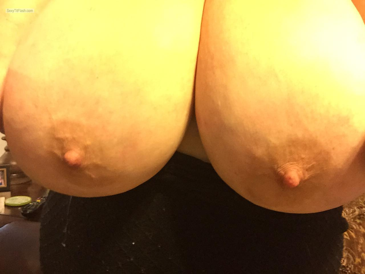 Extremely big Tits Of My Wife Hot Wife