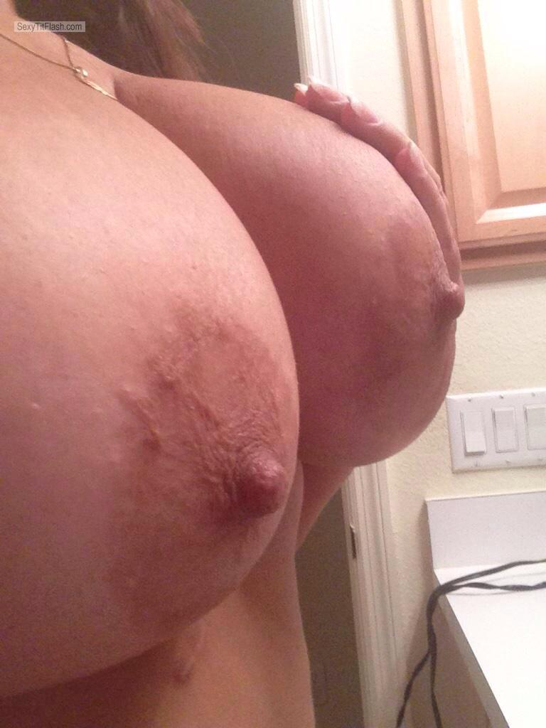 Extremely big Tits Of My Wife Selfie by Marie