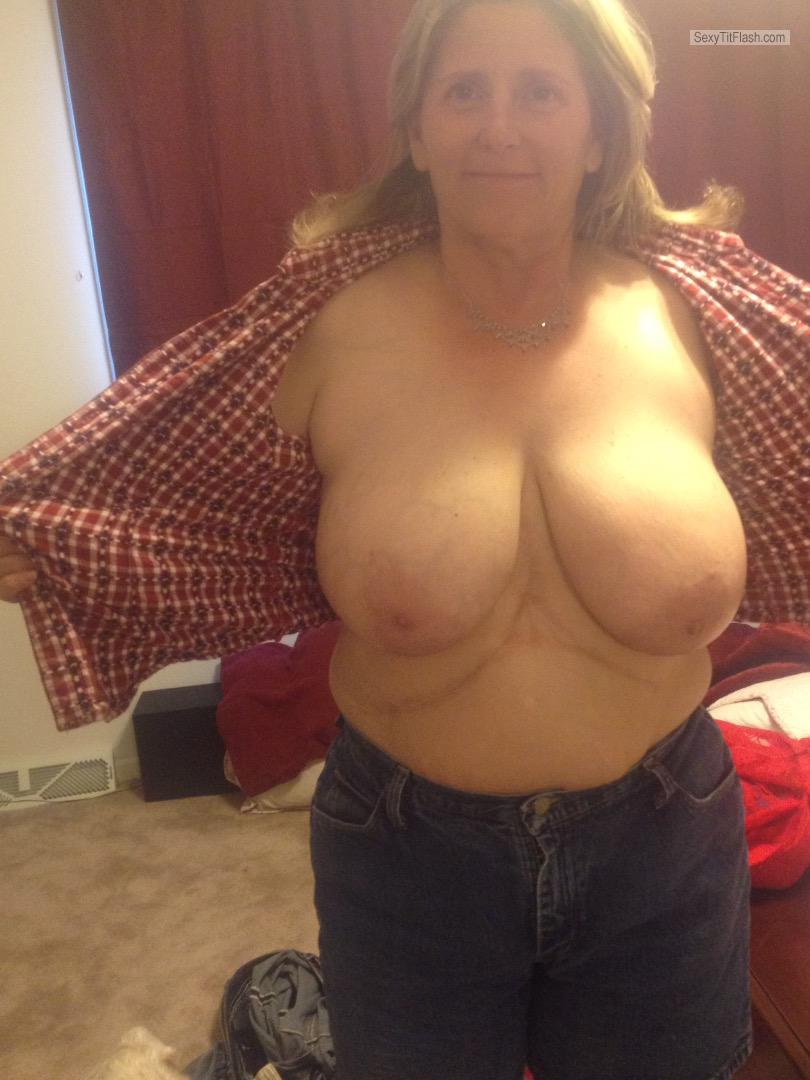 Extremely big Tits Of My Wife Topless Sexy Wife