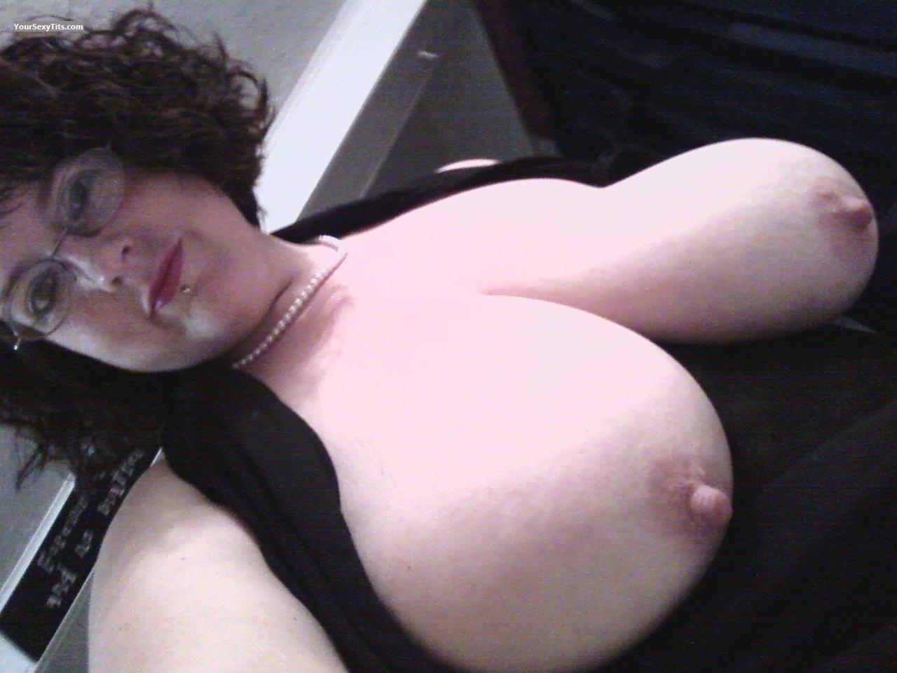 My Extremely big Tits Topless Selfie by PeachesnCream