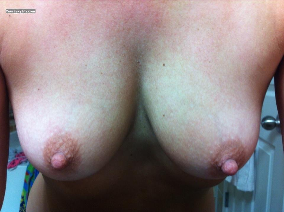 Tit Flash: Medium Tits By IPhone - Horny Wife from United States