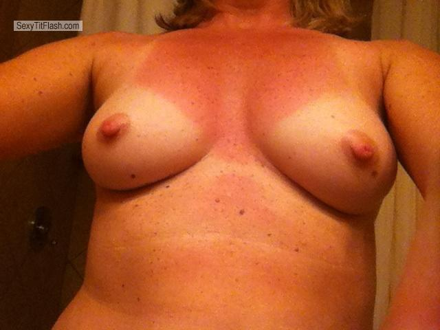 Tit Flash: My Medium Tits By IPhone (Selfie) - Nurse Cris from United States